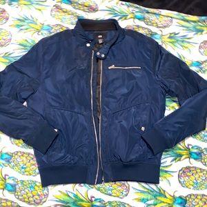 H & M Blue bomber jacket EUC US 44R